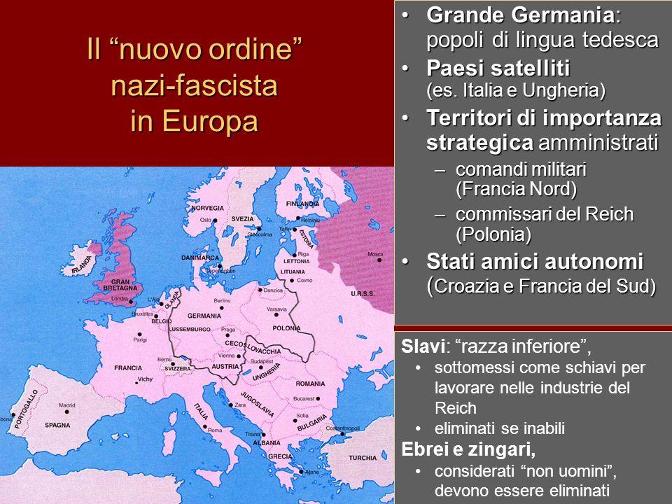 Il nuovo ordine nazi-fascista in Europa