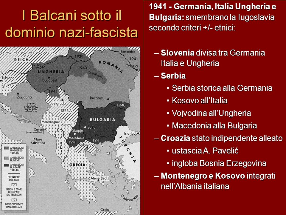 I Balcani sotto il dominio nazi-fascista