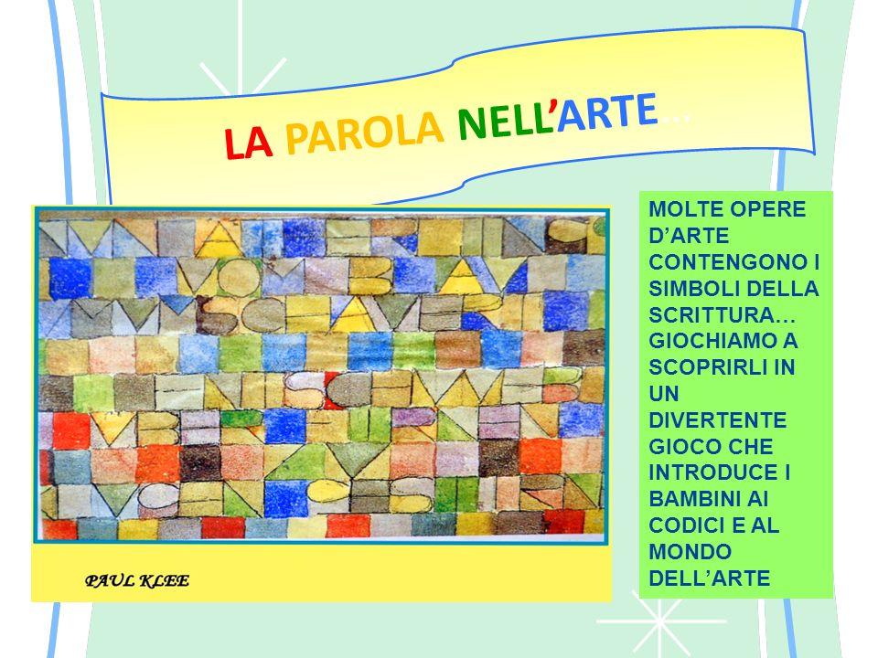 LA PAROLA NELL'ARTE… MOLTE OPERE D'ARTE CONTENGONO I SIMBOLI DELLA SCRITTURA…