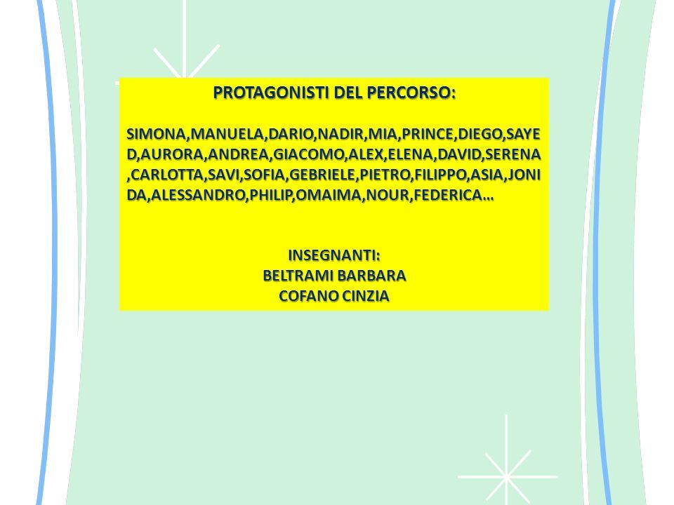 PROTAGONISTI DEL PERCORSO: