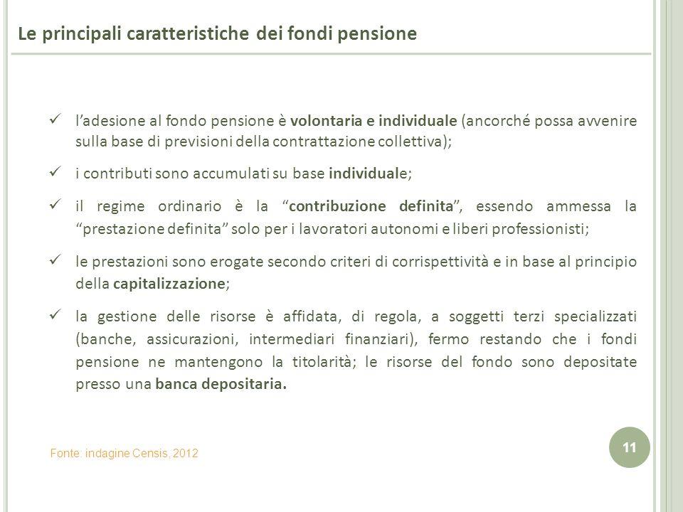 Le principali caratteristiche dei fondi pensione