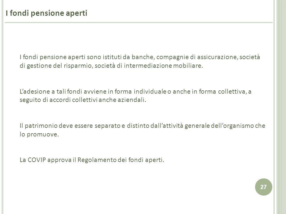 I fondi pensione aperti