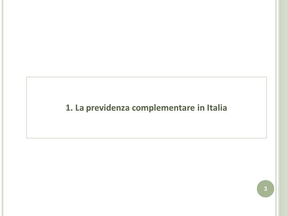 1. La previdenza complementare in Italia