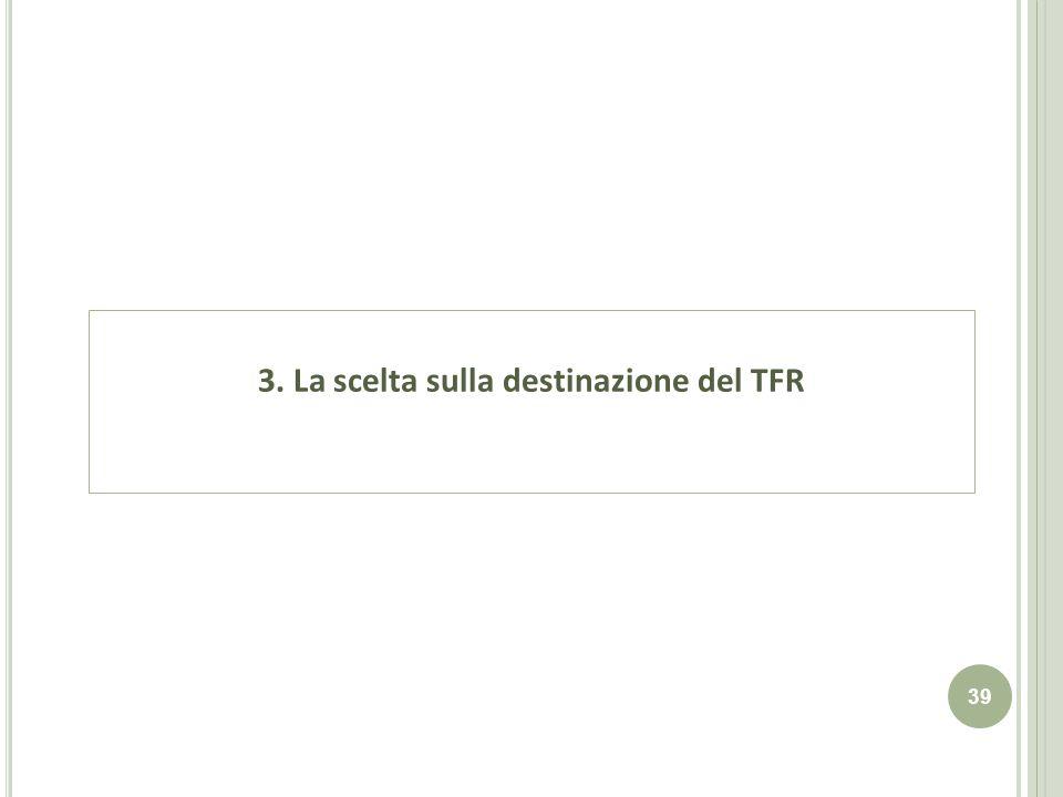 3. La scelta sulla destinazione del TFR