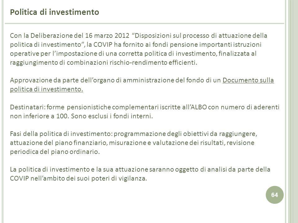 Politica di investimento