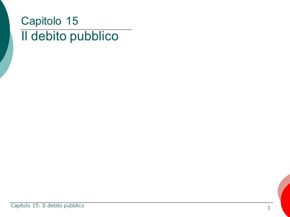 Capitolo 15 Il debito pubblico