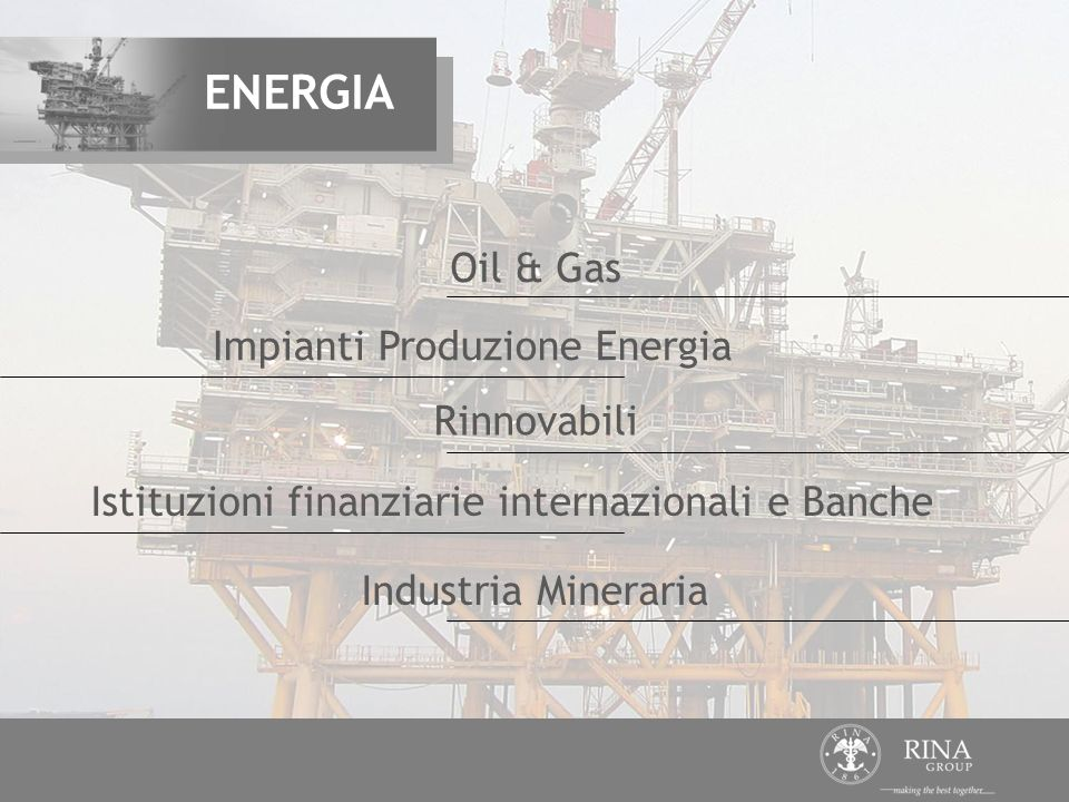 ENERGIA Oil & Gas Impianti Produzione Energia Rinnovabili