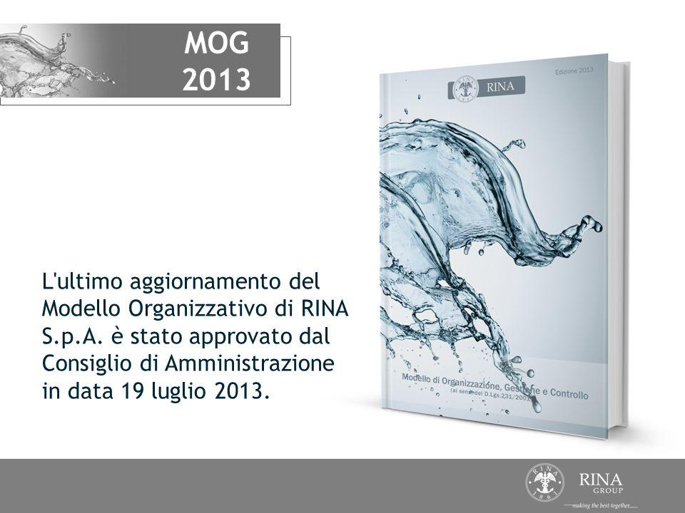 MOG 2013. L ultimo aggiornamento del Modello Organizzativo di RINA S.p.A.