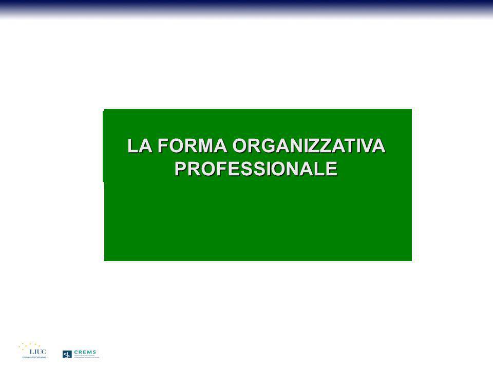 LA FORMA ORGANIZZATIVA PROFESSIONALE