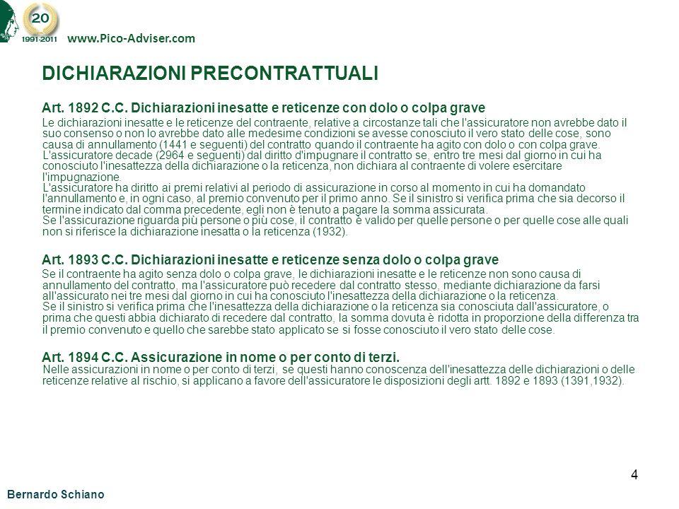DICHIARAZIONI PRECONTRATTUALI