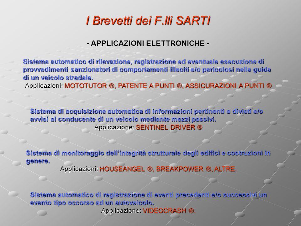 I Brevetti dei F.lli SARTI