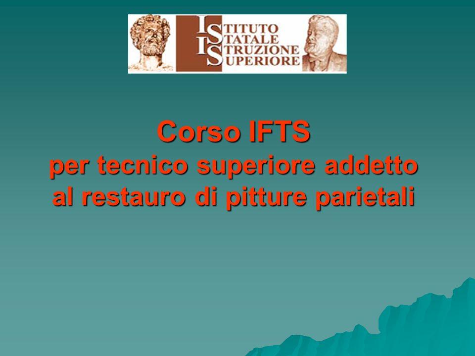 Corso IFTS per tecnico superiore addetto al restauro di pitture parietali