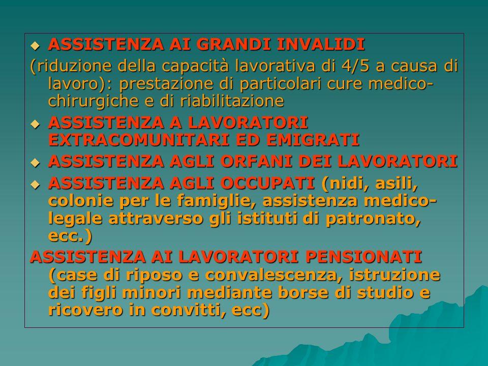 ASSISTENZA AI GRANDI INVALIDI