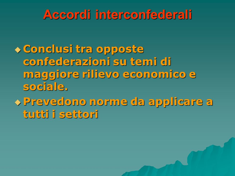 Accordi interconfederali