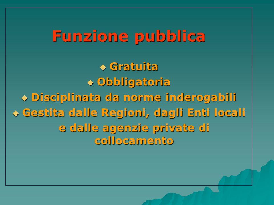 Funzione pubblica Gratuita Obbligatoria