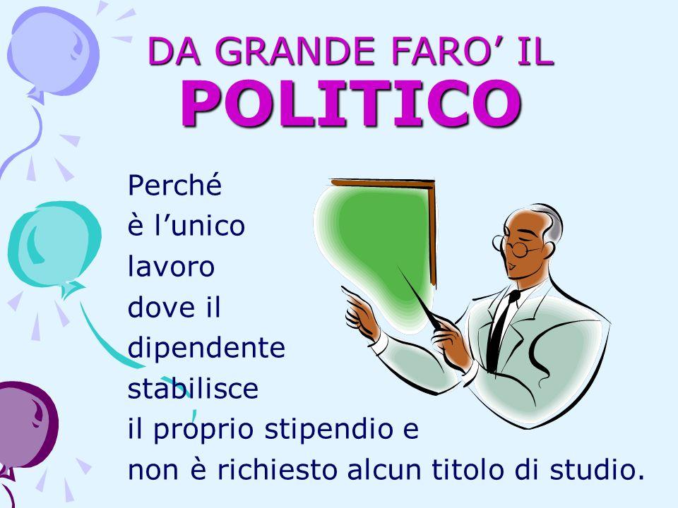 DA GRANDE FARO' IL POLITICO