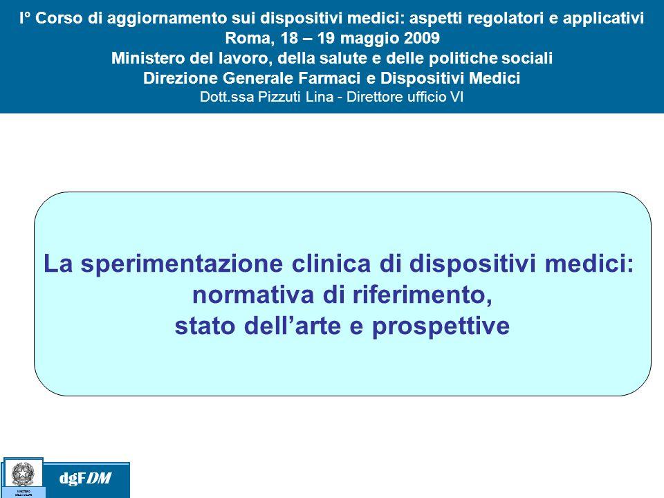 La sperimentazione clinica di dispositivi medici: