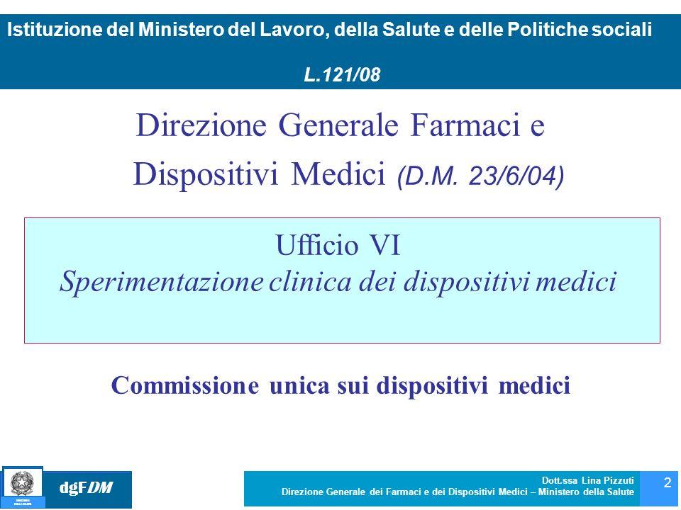 Commissione unica sui dispositivi medici