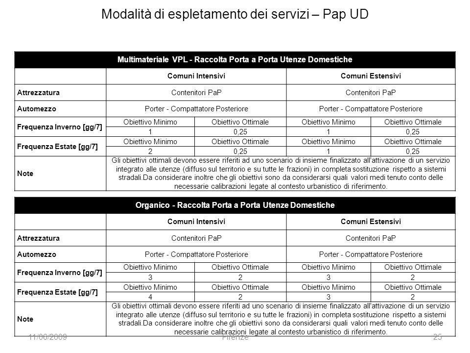 Modalità di espletamento dei servizi – Pap UD