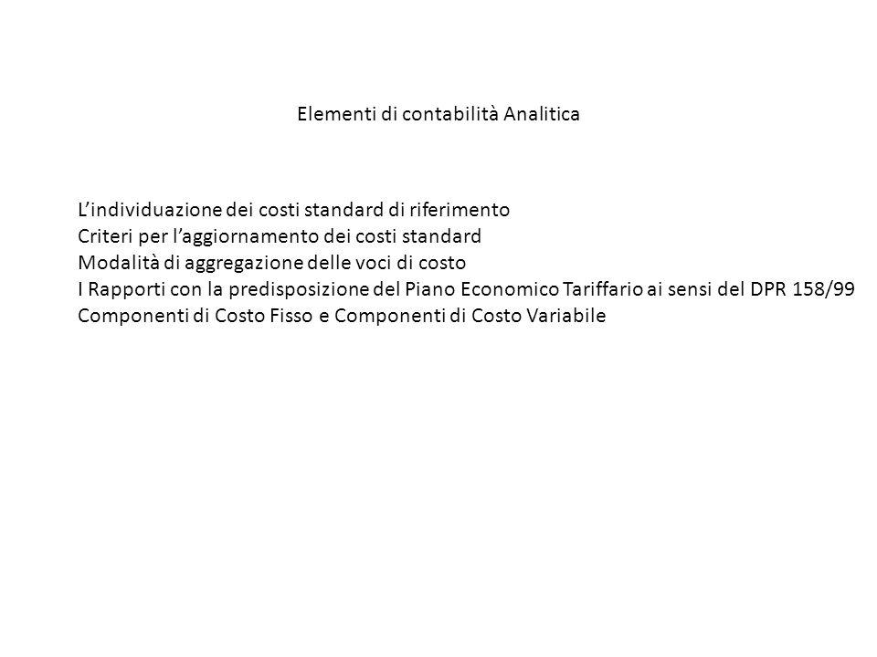Elementi di contabilità Analitica