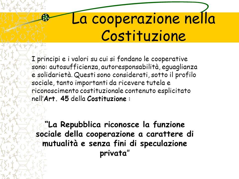 La cooperazione nella Costituzione