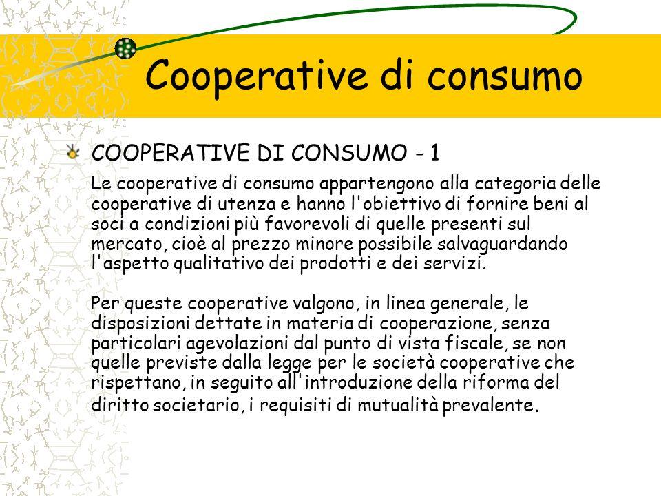 Cooperative di consumo