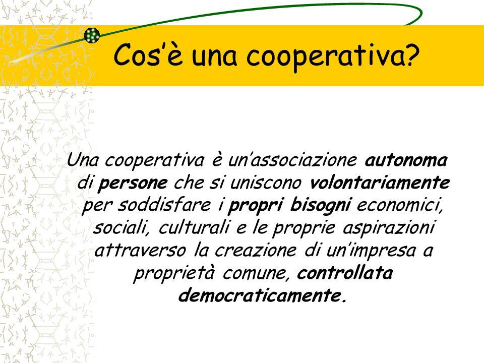 Cos'è una cooperativa