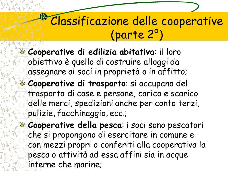 Classificazione delle cooperative (parte 2°)