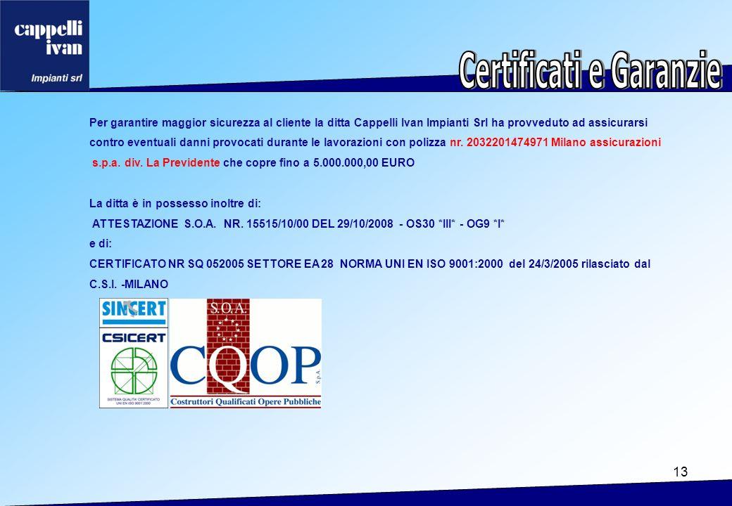 Certificati e Garanzie