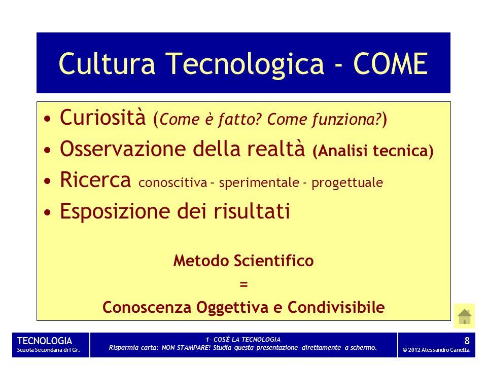 Cultura Tecnologica - COME