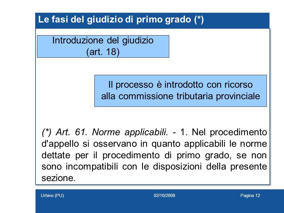 Le fasi del giudizio di primo grado (*)