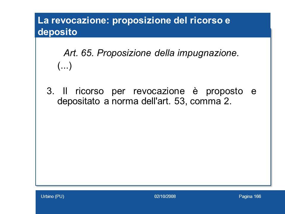 La revocazione: proposizione del ricorso e deposito