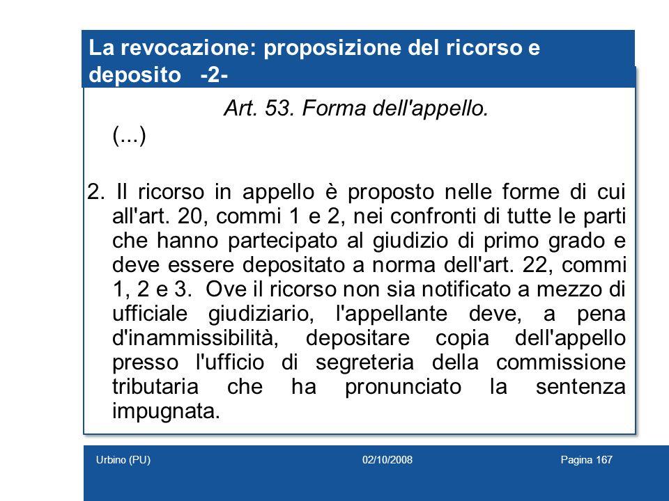 La revocazione: proposizione del ricorso e deposito -2-