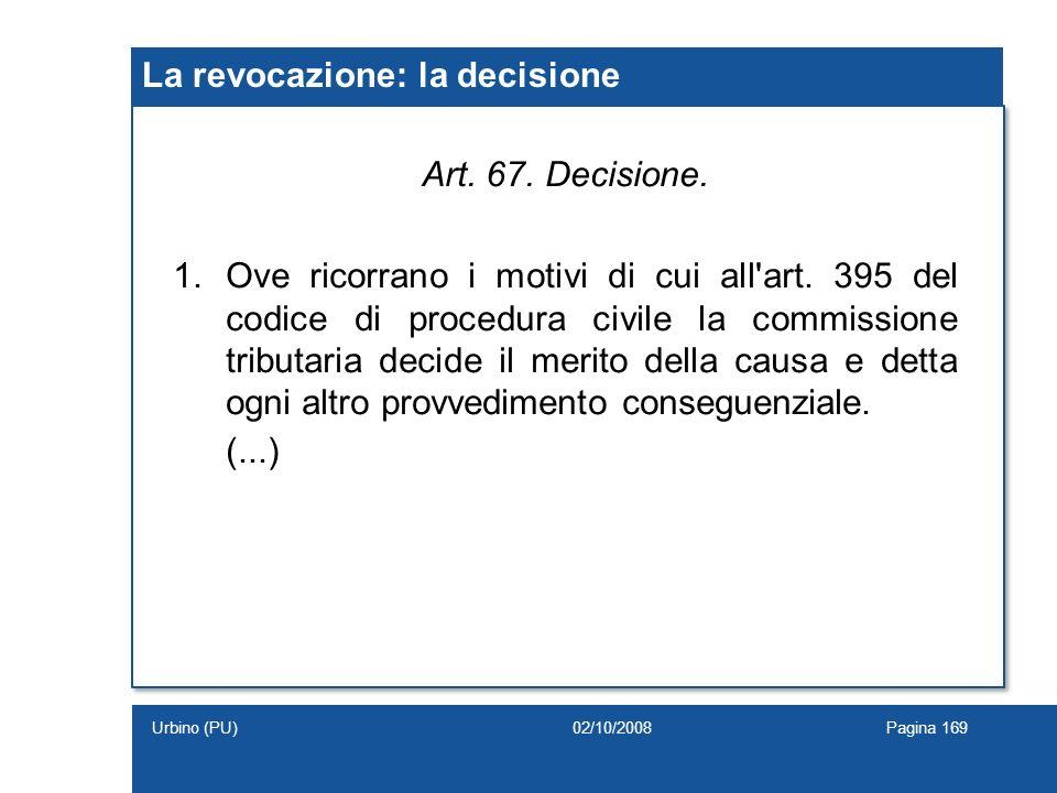 La revocazione: la decisione