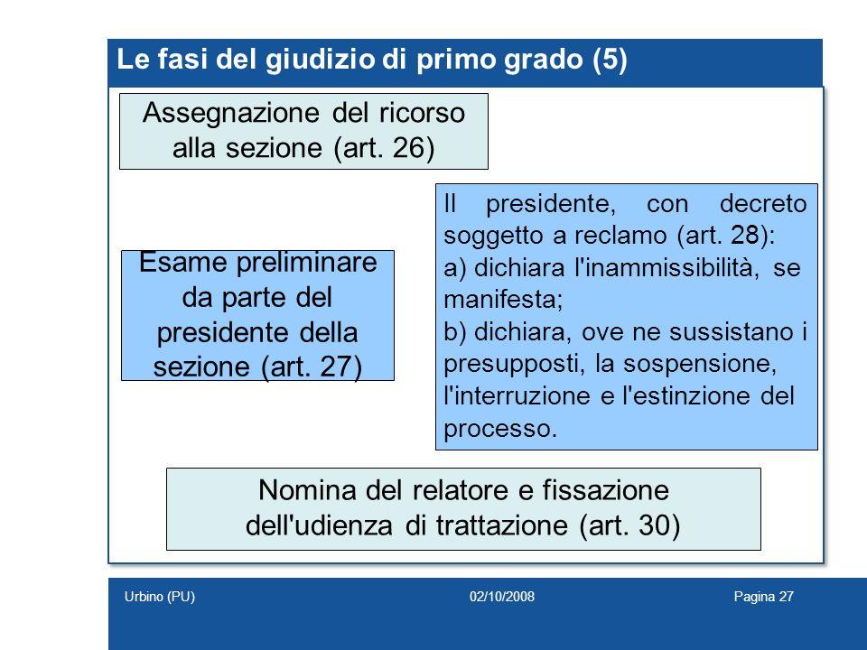 Le fasi del giudizio di primo grado (5)