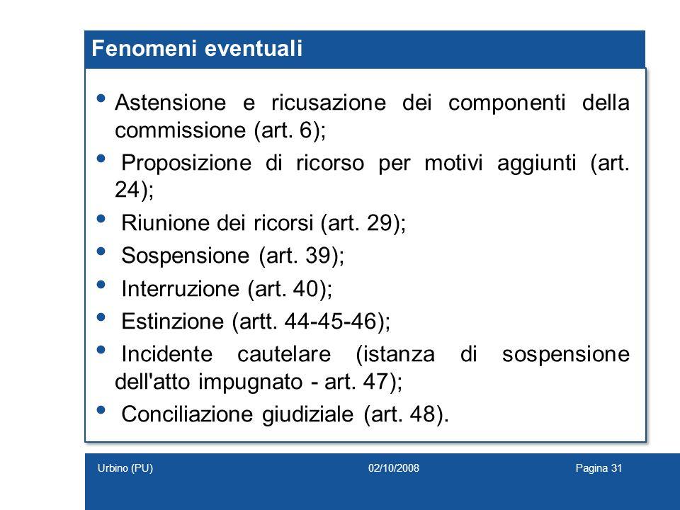 Astensione e ricusazione dei componenti della commissione (art. 6);