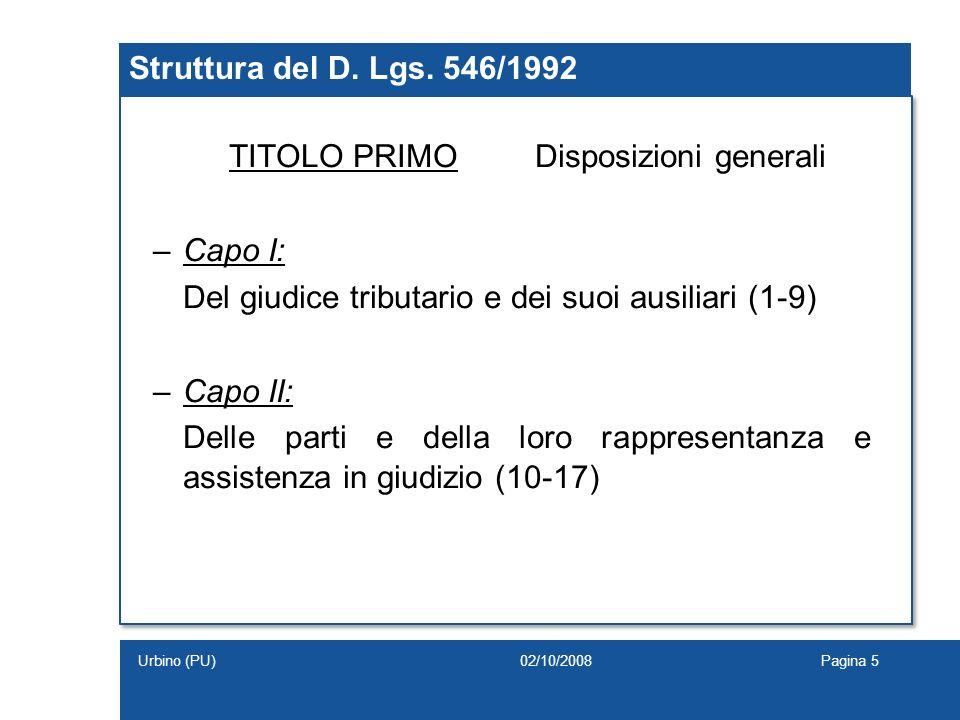 TITOLO PRIMO Disposizioni generali