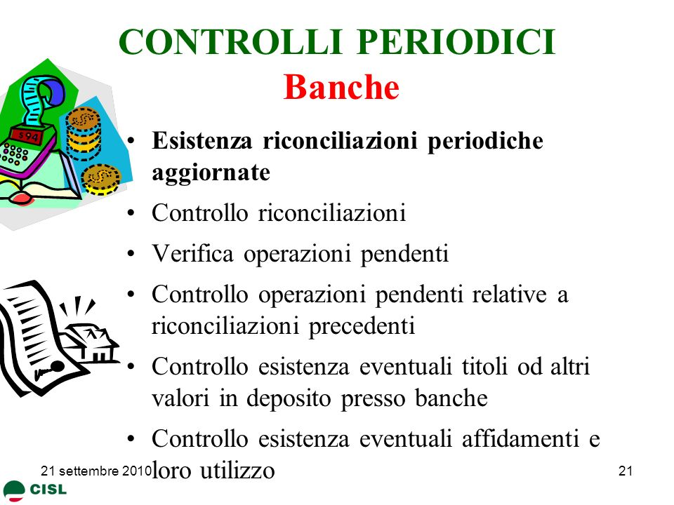CONTROLLI PERIODICI Banche