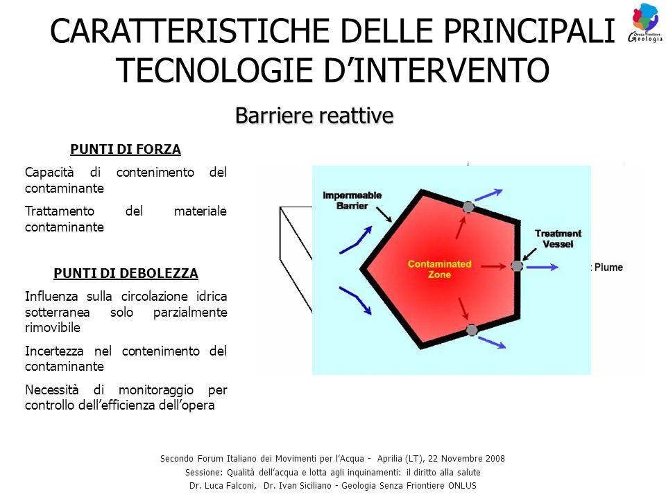 CARATTERISTICHE DELLE PRINCIPALI TECNOLOGIE D'INTERVENTO