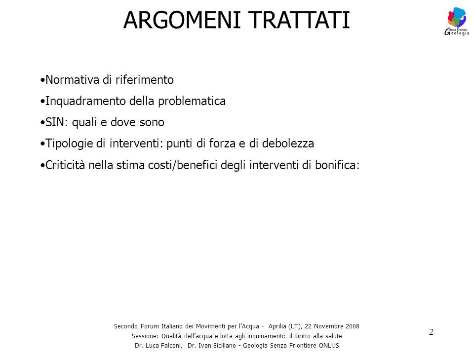 Dr. Luca Falconi, Dr. Ivan Siciliano - Geologia Senza Friontiere ONLUS