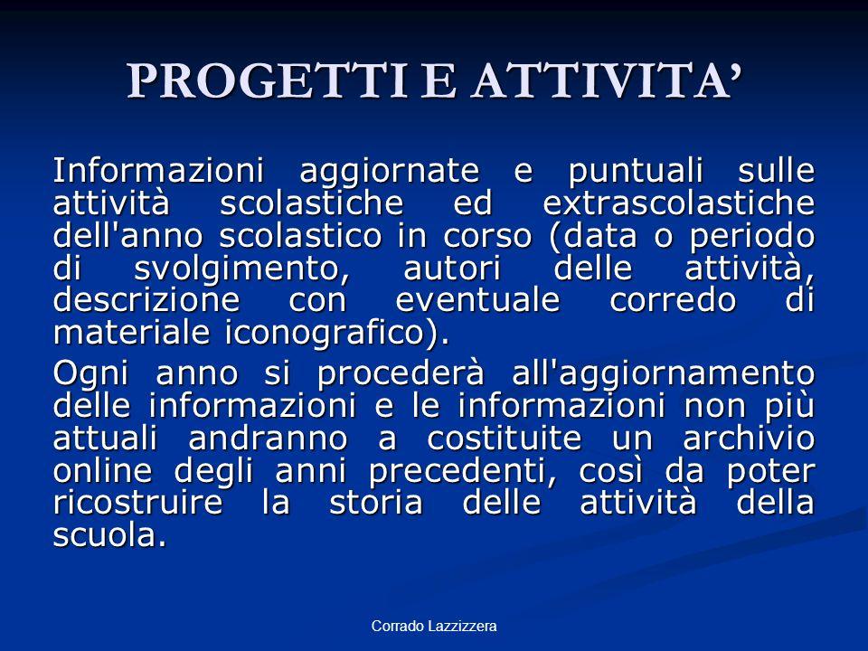 PROGETTI E ATTIVITA'