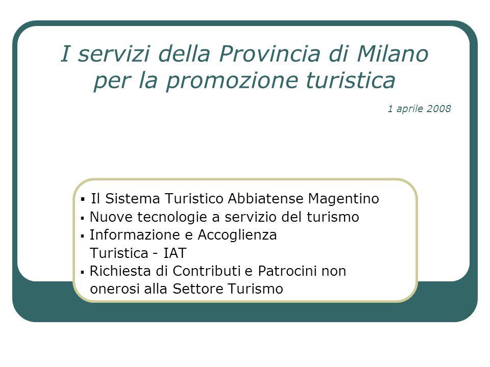 I servizi della Provincia di Milano per la promozione turistica