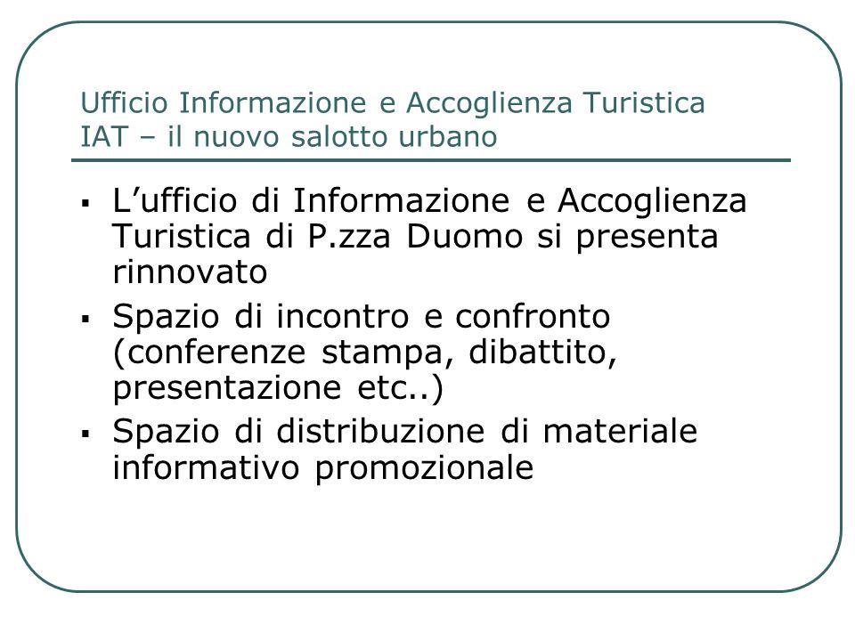 Spazio di distribuzione di materiale informativo promozionale