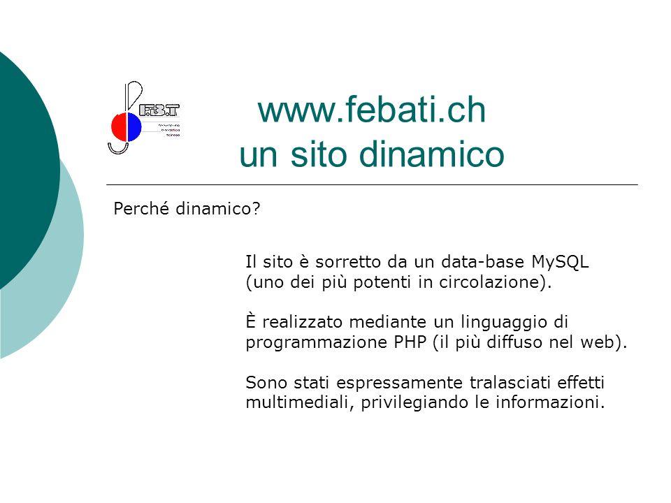 www.febati.ch un sito dinamico