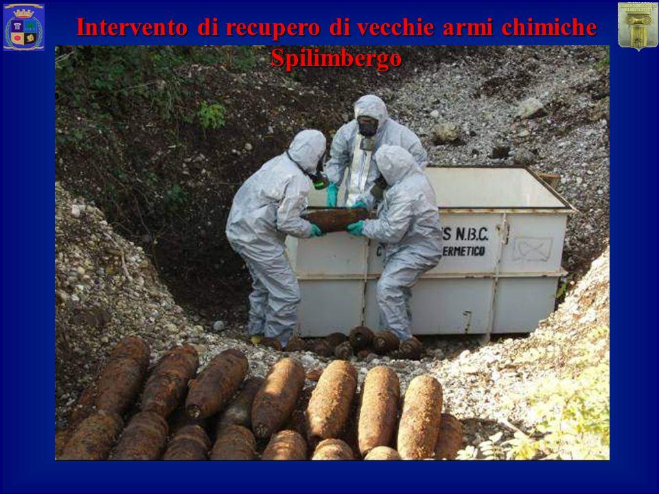Intervento di recupero di vecchie armi chimiche