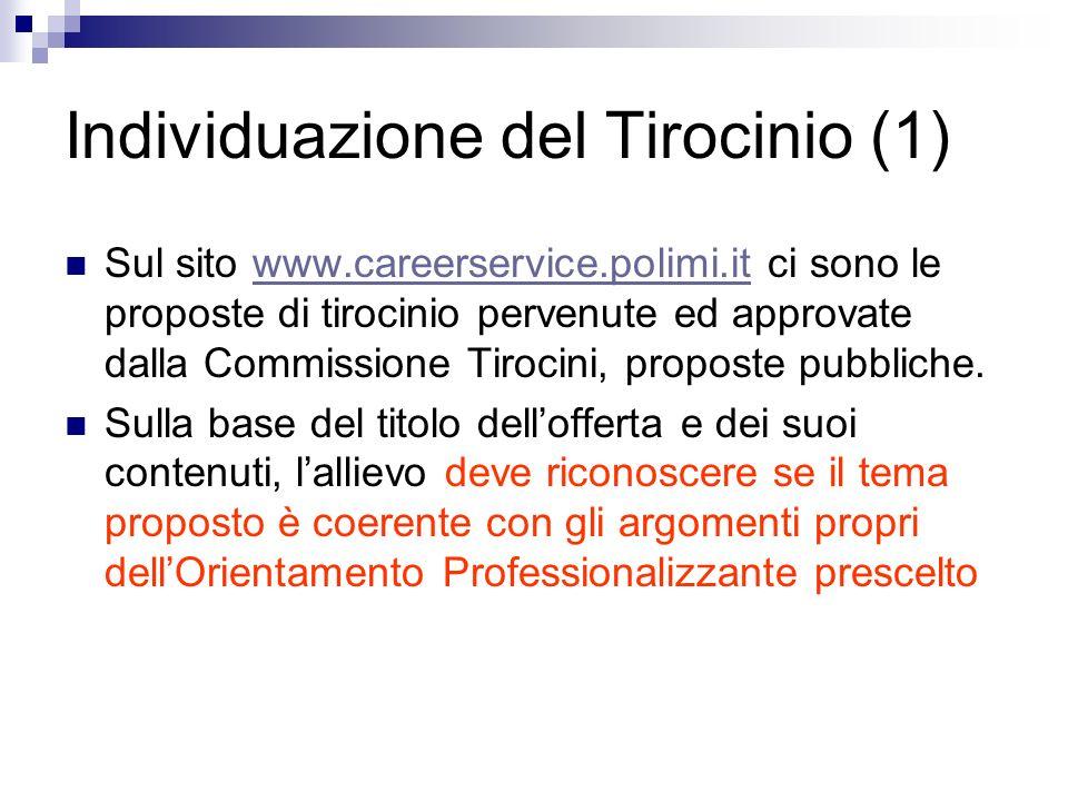 Individuazione del Tirocinio (1)