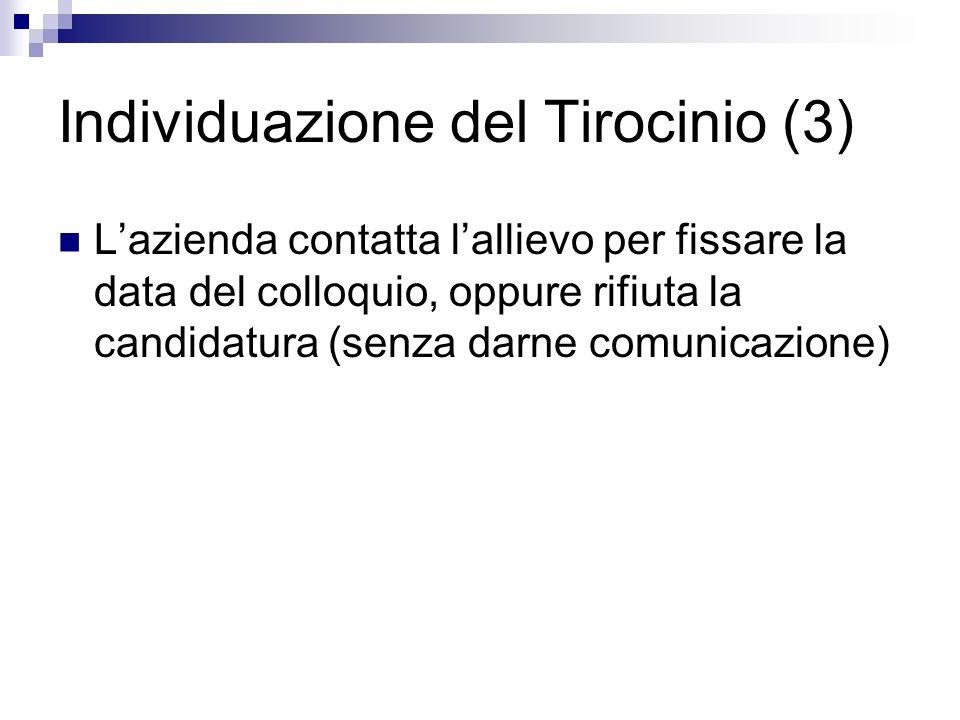 Individuazione del Tirocinio (3)