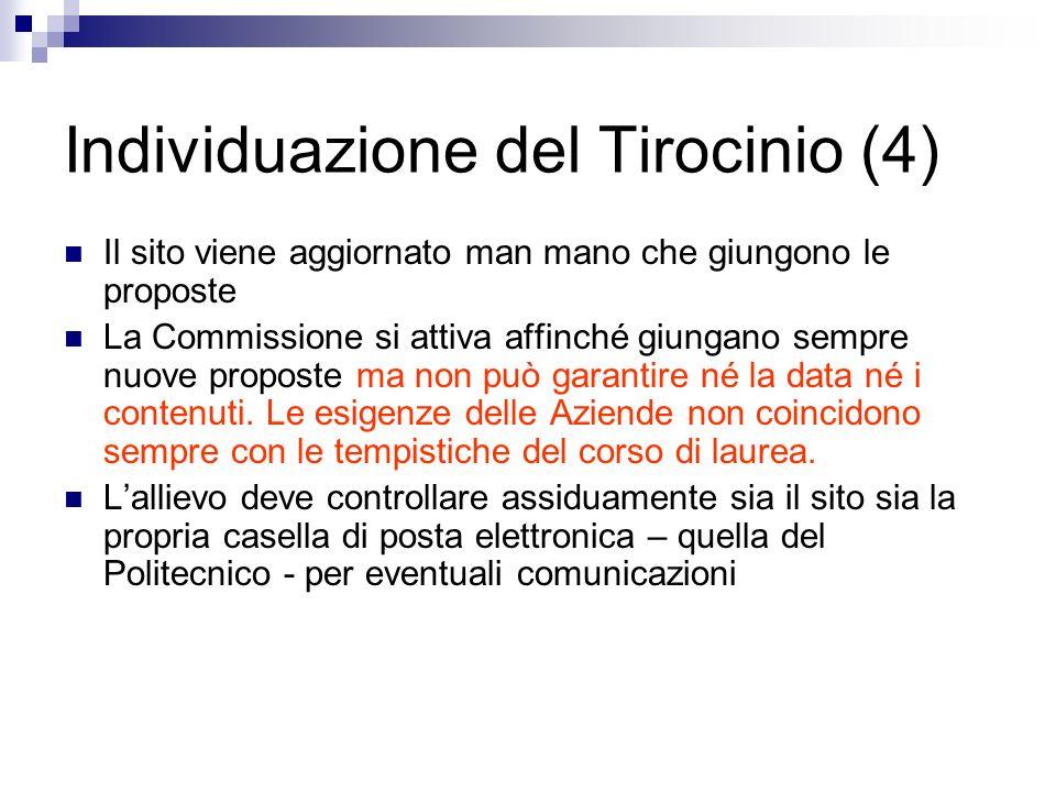 Individuazione del Tirocinio (4)