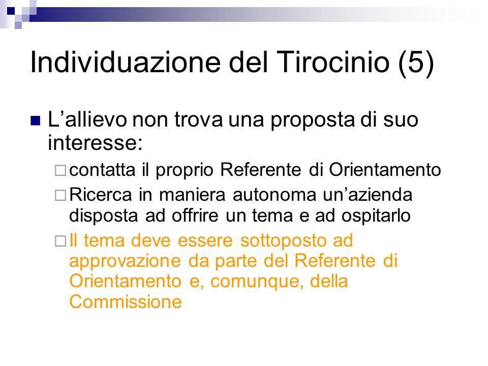 Individuazione del Tirocinio (5)