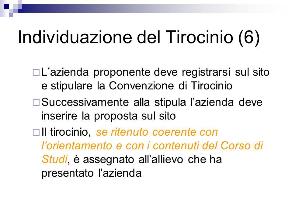 Individuazione del Tirocinio (6)